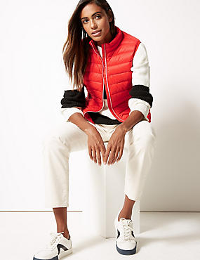 Lightweight Down & Feather Gilet with Stormwear™, POPPY, catlanding