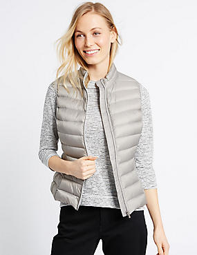 Down & Feather Lightweight Gilet Jacket