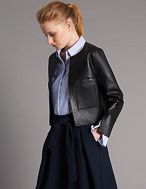Pure Leather Edge To Edge Jacket