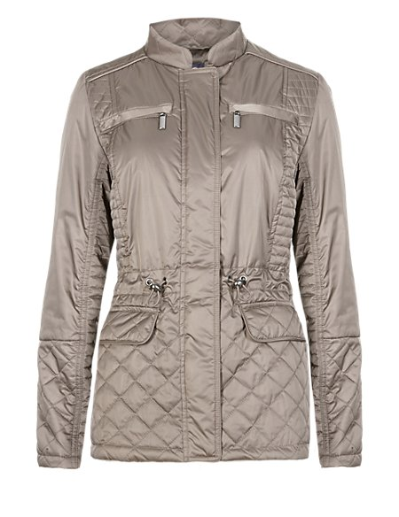 Lightly Padded 4 Pockets Quilted Jacket with Stormwear™