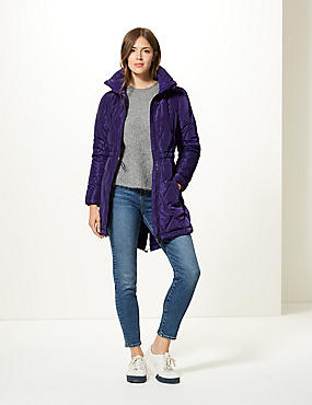 Padded Coat with Stormwear™, PURPLE, catlanding