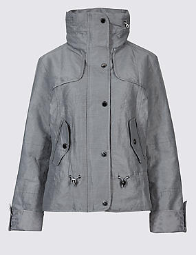 Anorak Jacket with Stormwear™, SILVER GREY, catlanding