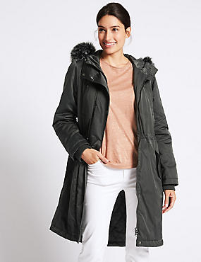 Satin Parka with Stormwear™