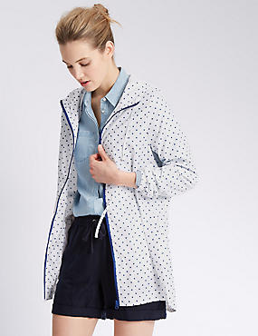 Polka Dot Hooded Parka with Stormwear™