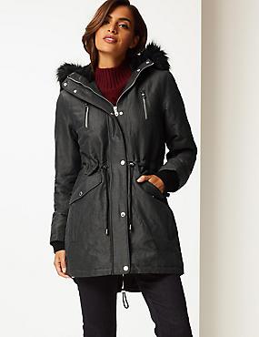 Metallic Zipped Parka with Stormwear™, METALLIC, catlanding