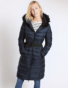 Padded Down Filled Hooded Coat