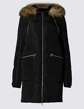 Padded Faux Fur Hooded Jacket with Stormwear™