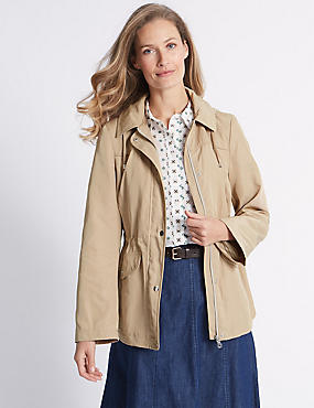 Harrington Anorak Jacket with Stormwear™, NEUTRAL, catlanding