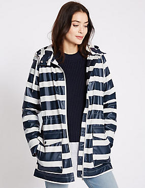 Striped Hooded Anorak