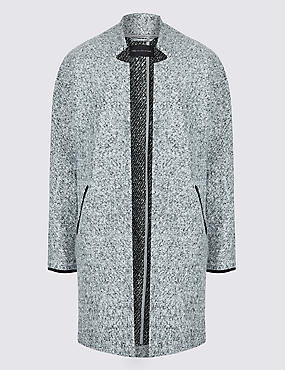 Open Front Coat , GREY MARL, catlanding
