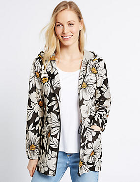 Floral Print Parka Coat with Stormwear™