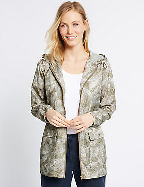 Leaf Print Parka with Stormwear™