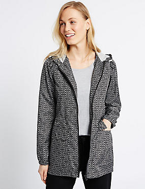 Geometric Print Parka Coat with Stormwear™