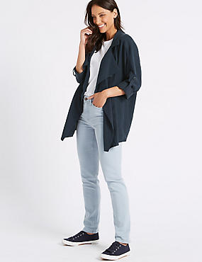 Double Breasted Waterfall Jacket, NAVY, catlanding