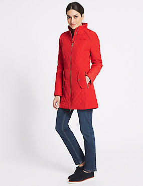 Padded & Quilted Jacket with Stormwear™, RED, catlanding