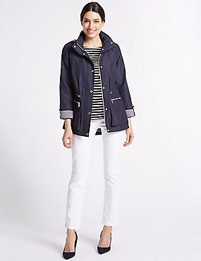 Jacquard Anorak Jacket with Stormwear™, NAVY, catlanding
