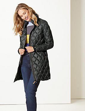 Padded and Quilted Coat with Stormwear™ , DARK GREY, catlanding