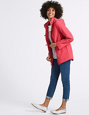 Cotton Rich Anorak Jacket with Stormwear™, VERY PINK, catlanding