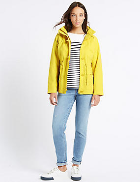 Cotton Rich Anorak Jacket with Stormwear™, BUTTERCUP, catlanding