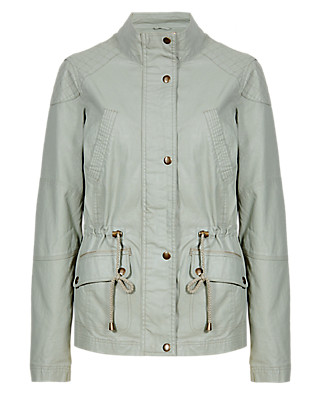Waxy Jacket with Linen Clothing