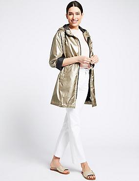 Metallic Anorak Jacket with Stormwear™, PALE GOLD, catlanding