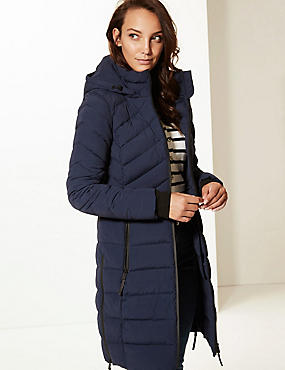 Padded Jacket with Stormwear™, NAVY, catlanding