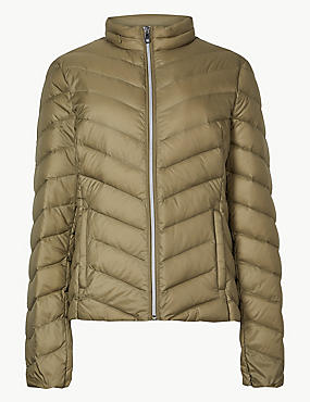 Lightweight Down & Feather Jacket with Stormwear™, LIGHT GREEN, catlanding