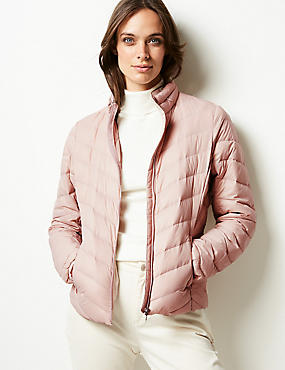 Lightweight Down & Feather Jacket with Stormwear™, PETAL PINK, catlanding