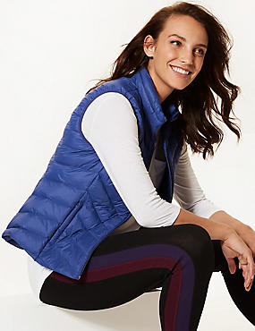Lightweight Down & Feather Gilet with Stormwear™, ULTRAVIOLET, catlanding