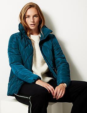 Padded Jacket with Stormwear™, DARK MARINE, catlanding