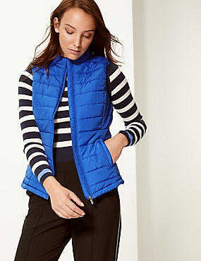 Padded & Quilted Gilet, ROYAL BLUE, catlanding