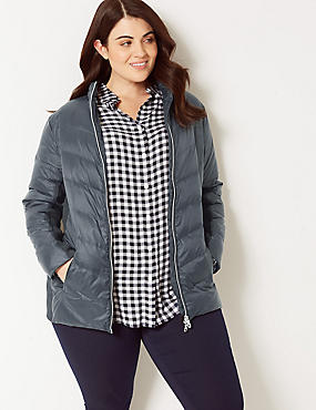CURVE Padded Jacket with Stormwear™, BLACK, catlanding