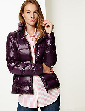 Padded Jacket with Stormwear™, PLUM, catlanding