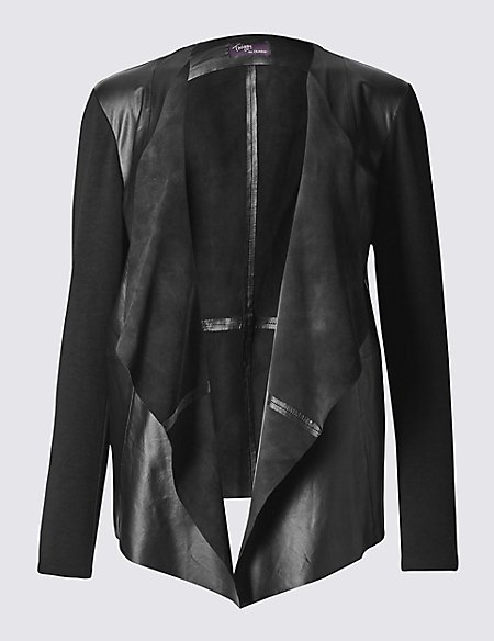 Leather Waterfall Jacket