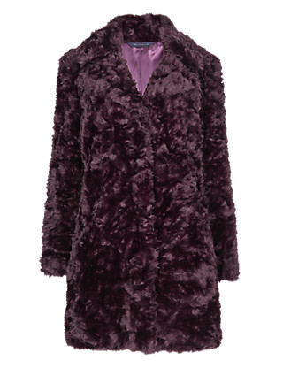 Faux Fur Textured Coat Clothing