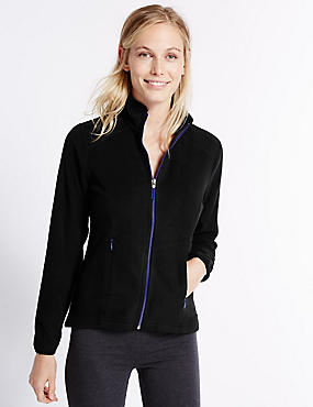 Zipped Pocket Fleece Jacket