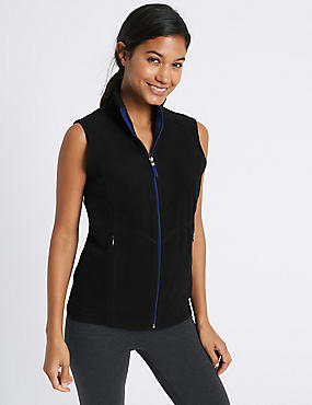 Fleece Contrasting Zip Gilet