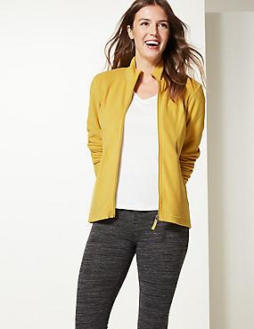 Panelled Fleece Jacket, HONEY, catlanding