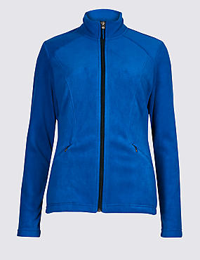 Panelled Fleece Jacket, RICH BLUE, catlanding