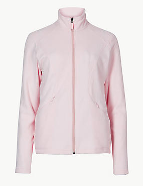 Panelled Fleece Jacket, POWDER, catlanding