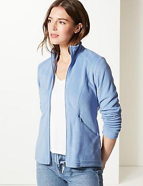 Panelled Fleece Jacket, PERIWINKLE, catlanding