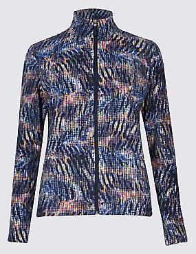 Printed Fleece Jacket , PINK MIX, catlanding
