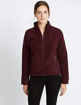 Funnel Neck Bonded Fleece Jacket