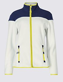 Colour Block Fleece Jacket