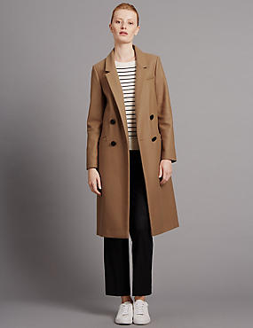 Tailored Fit Wool Cashmere Coat