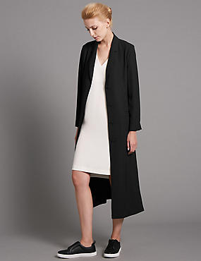 Loose Fit Belted Long Coat