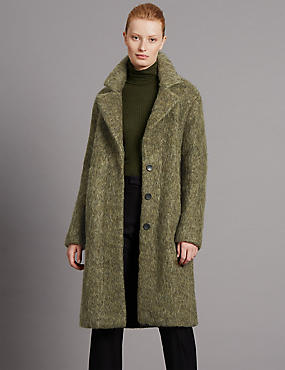 Brushed Unstructed Coat