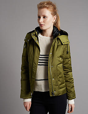 Faux Fur Padded & Quilted Coat with Stormwear™