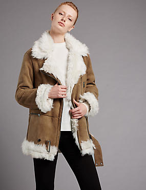 Suede Real Shearling Jacket