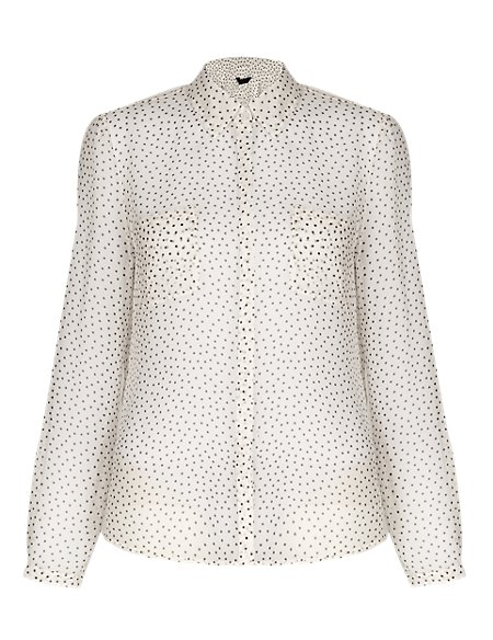 No Peep™ Spotted Blouse
